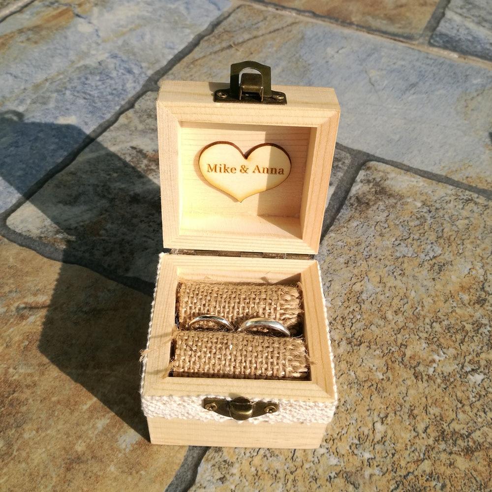 Buy rustic wedding ring box holder custom for Custom engagement ring box