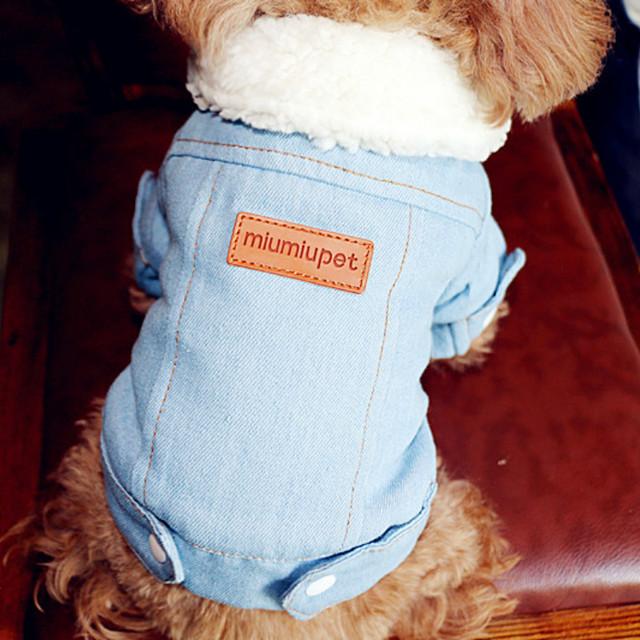Winter Denim Dog Coat