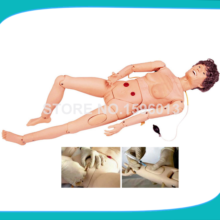 Advanced Female Elderly Nursing Manikin,Elderly Nursing Dummy with Trauma Care and BP Measurement economic basic patient care manikin female nursing manikin nursing mannequin