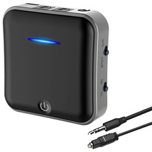 2 in 1 Bluetooth 5.0 Receiver /Transmitter Digital Optical TOSLINK and 3.5mm Wireless Audio Adapter for TV / Home Stereo System
