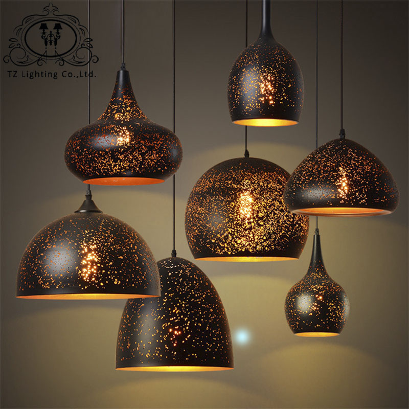 TZ Vintage Iron Pendant lamps LED E27 industrial black Pendant Lights kitchen living room bedroom Hotel Office restaurant baby girls dresses 2017 autumn children clothing monsoon kids dress girl dress for party and wedding child cotton lining clothes