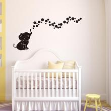 Elephant Bubble Wall sticker For Kids Room Decals Art Stickers for Nursery Baby Decoration
