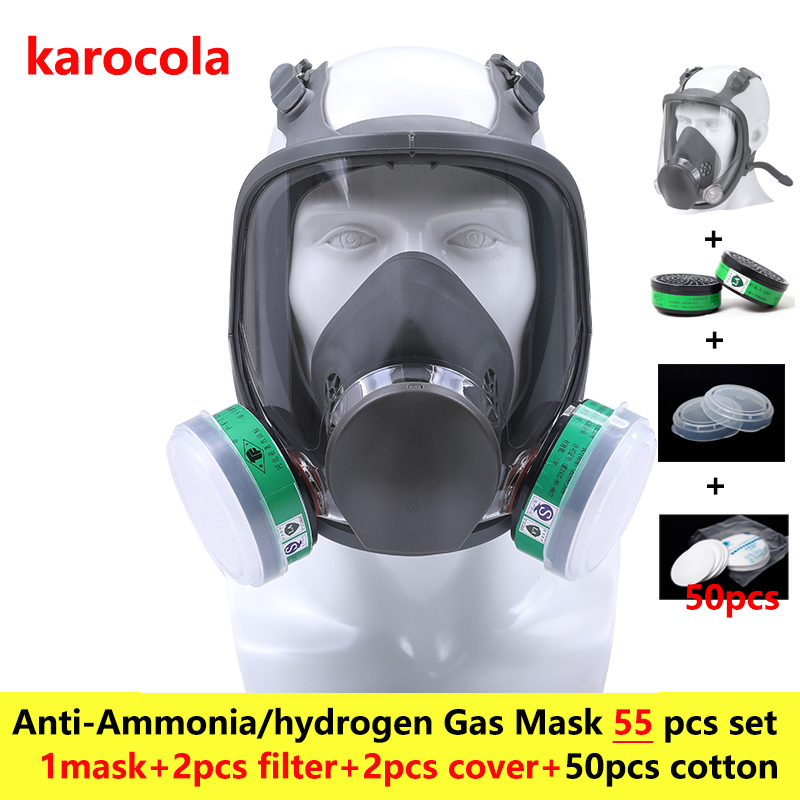 55in1 chemical Ammonia Gas Mask 6800 Full Face Facepiece Respirator mask For Painting Spraying anti dust