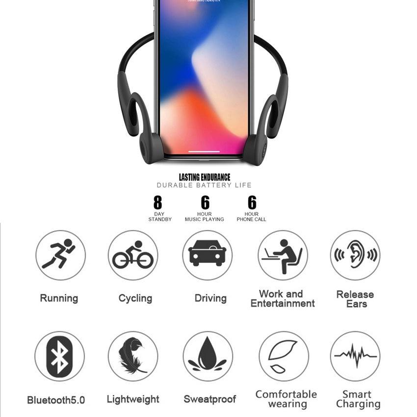 2018 Bluetooth Auriculares de conducción ósea Auriculares - Audio y video portátil - foto 6