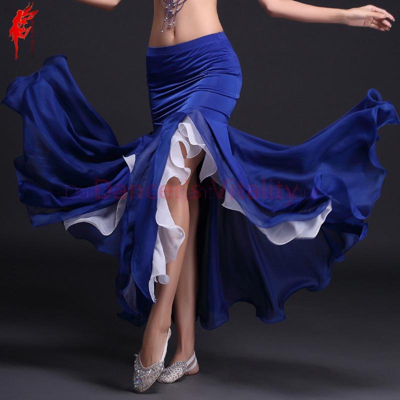 Hot! Milk Silk Crimping Belly Dance Skirt Women Belly Dance 2colors Skirt Belly Dance Curling Skirts 9 Colors