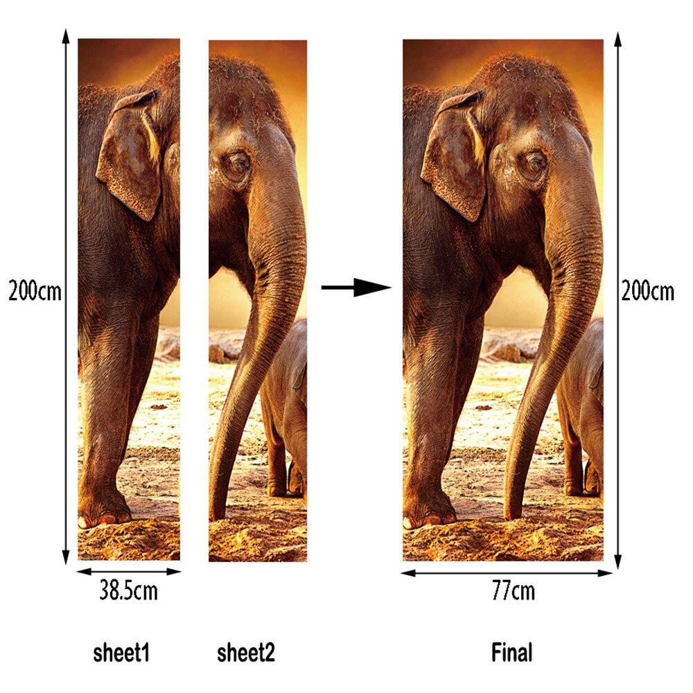 Funlife Elefanten T R Aufkleber Wohnzimmer Wand Dekor Schlafzimmer
