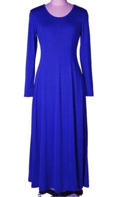 Летнее платье для женщин модное повседневное Макси платье размера плюс черные платья Бохо сарафан вечерние элегантные женские платья - Цвет: blue long sleeve