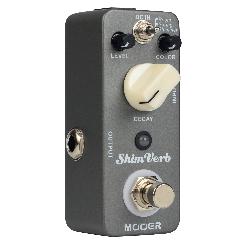 Mooer Shim Verb Digital Reverb Guitar Pedal Effect Pedal True Bypass Full Metal Shell MRV1 dobson c french verb handbook