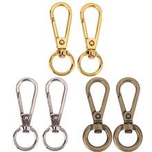 4 pçs anel de metal do vintage mosquetão para sacos de bagagem fivela de cão snap gancho saco gancho fecho diy ferramenta costura acessórios