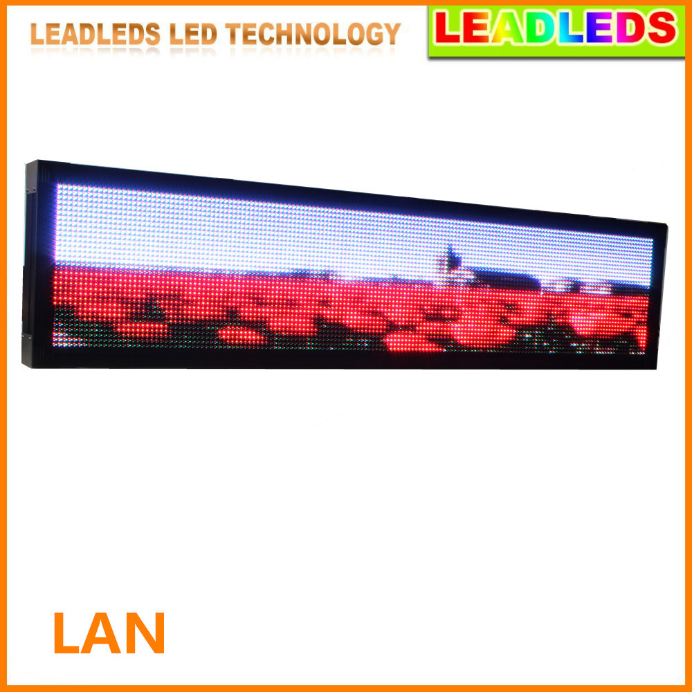 P10 Outdoor Waterproof RGB Full Color LED Video Sign LAN Input Message Display Board Increase The Temperature Display Function
