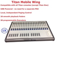 1 Unit Titan Mobile Wing Controller Outdoor Stage Lighting Console With 20 Smooth Playback Faders and 30 Programmable Executors