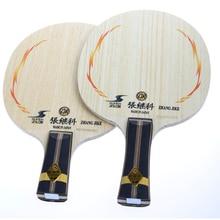 Table tennis racket with rubber zhang jike SUPER-ZLC classicl blade zte pingpong racke handle short long(FL/CS) with 6 gifts