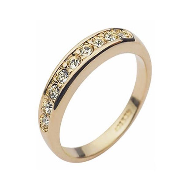 wedding rings for women gold silver rose gp elegent classic crystal fashion bridal finger ring gift - Buy Wedding Rings
