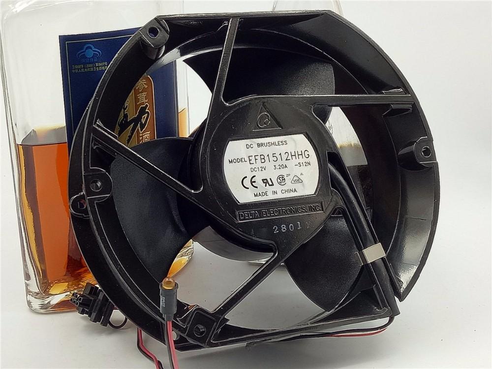 Free Shipping!!Delta EFB1512HHG 17CM 170*150*51MM 12V3. 2A cooling fan
