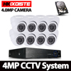 8CH CCTV Security Camera System HD 4MP AHD DVR 8PCS 4 0MP Indoor Dome CCTV Camera