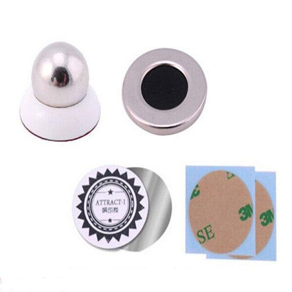5 pcsx Универсальный Маунт Автомобиля Липкий Магнитная GPS Стенд Держатель Для iPhone 6 s Plus & Телефон белый