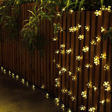 TSLEEN solar powered 50 led fairy string light garden outdoor mall wedding  decking xmas christmas decorative light