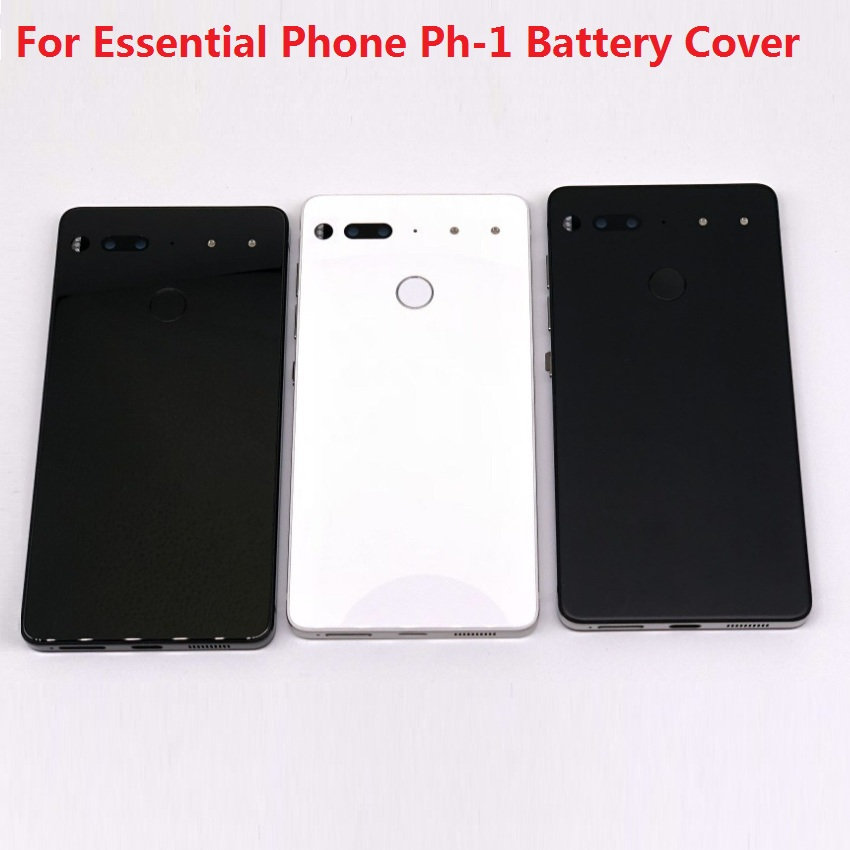 For Essential Phone Ph-1 Rear Back Battery Cover Door Ceramics Glass Housing with Fingerprint Camera Glass