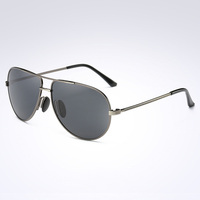 2017 Souson Brand men Sunglasses Polarized  fishing Driving Sunglass For Men with Box Metal Oval frame