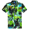 2017 Hot Selling Summer Mens Hawaiian Shirt Designer Printing Short Sleeve Beach Shirt Men