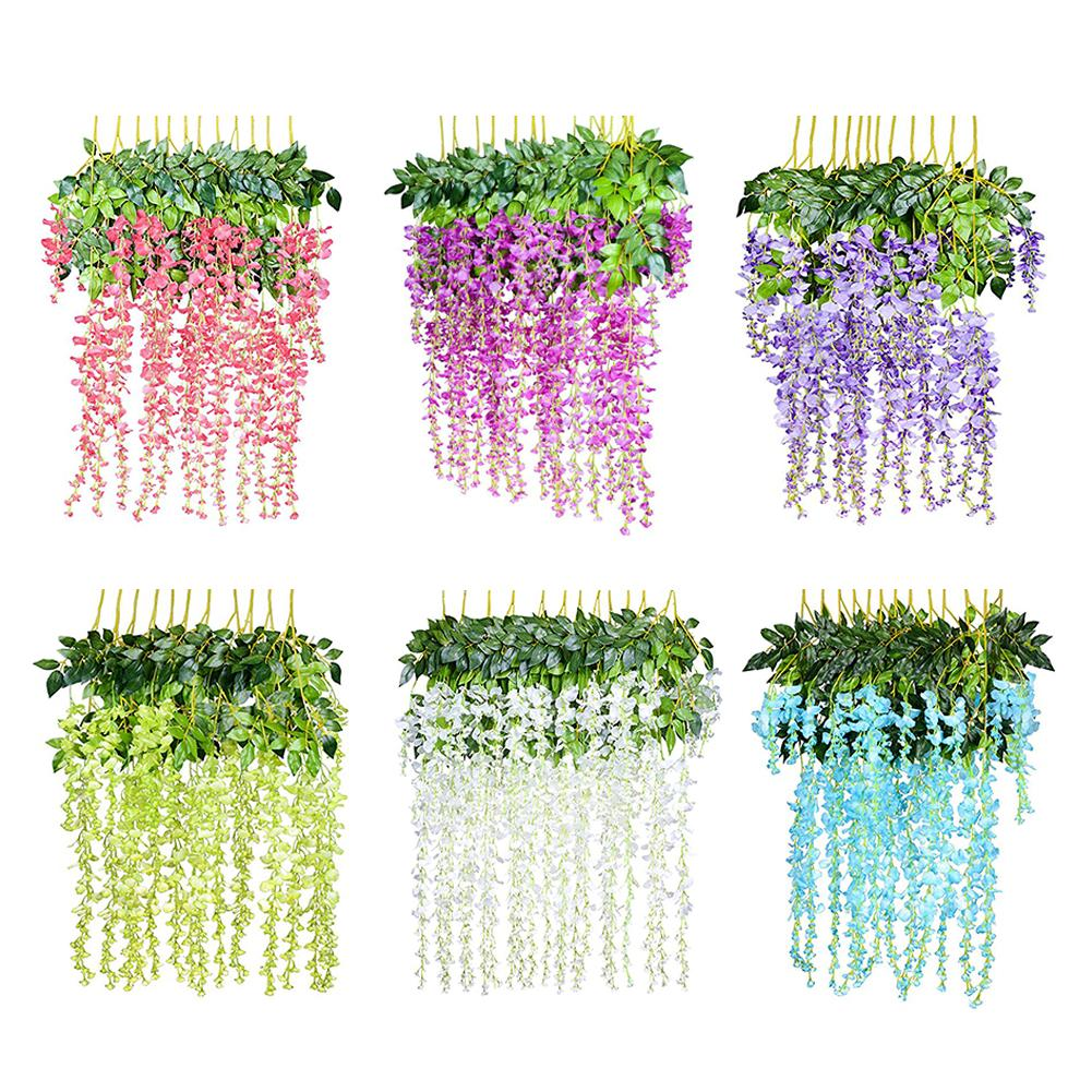 Well-Educated 98cm 1pc Artificial Green Water Plants Rattan Bouquet Fake Auqatic Hanging Plant Vine Home Wedding Wall Decor Foliage Leaf Artificial & Dried Flowers