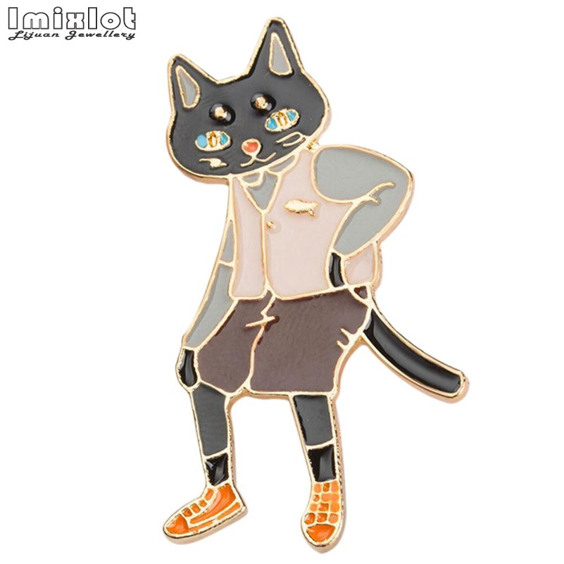 Fast Deliver Fashion Cute Pins And Brooches Rabbit/fox/cat Couple Enamel Pin Badges Hat Backpack Accessories Lovers Jewelry Gift For Lover Reputation First Jewelry Sets & More