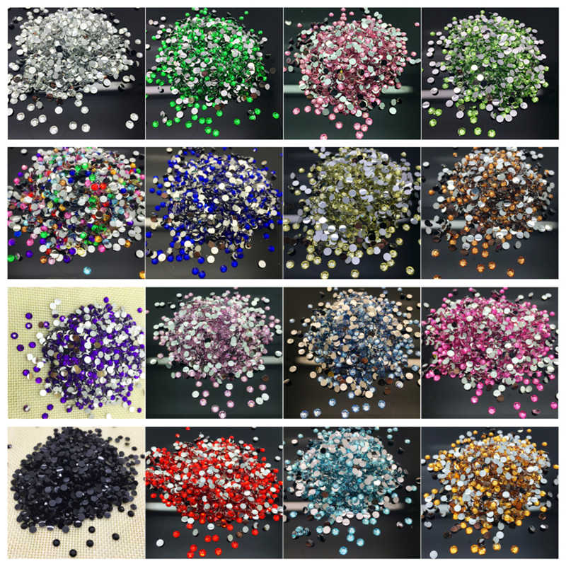 800pcs 4mm DIY Facets Resin Gems Flat Back Crystal Beads Garment accessories Select Styles
