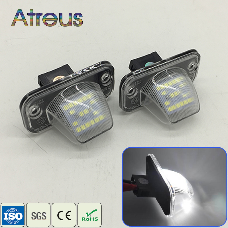Atreus 1Set Car <font><b>LED</b></font> License Plate <font><b>Lights</b></font> 12V For Volkswagen <font><b>Passat</b></font> <font><b>B5</b></font> Limousine <font><b>VW</b></font> T4 Transporter CAMPMOB Jetta Candy Touran image