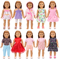 Doll Clothes Skirts Dress Swimsuit Sleepwear Outfit Shorts T Shirts For 18 inch Our Generation American Doll United States Girls