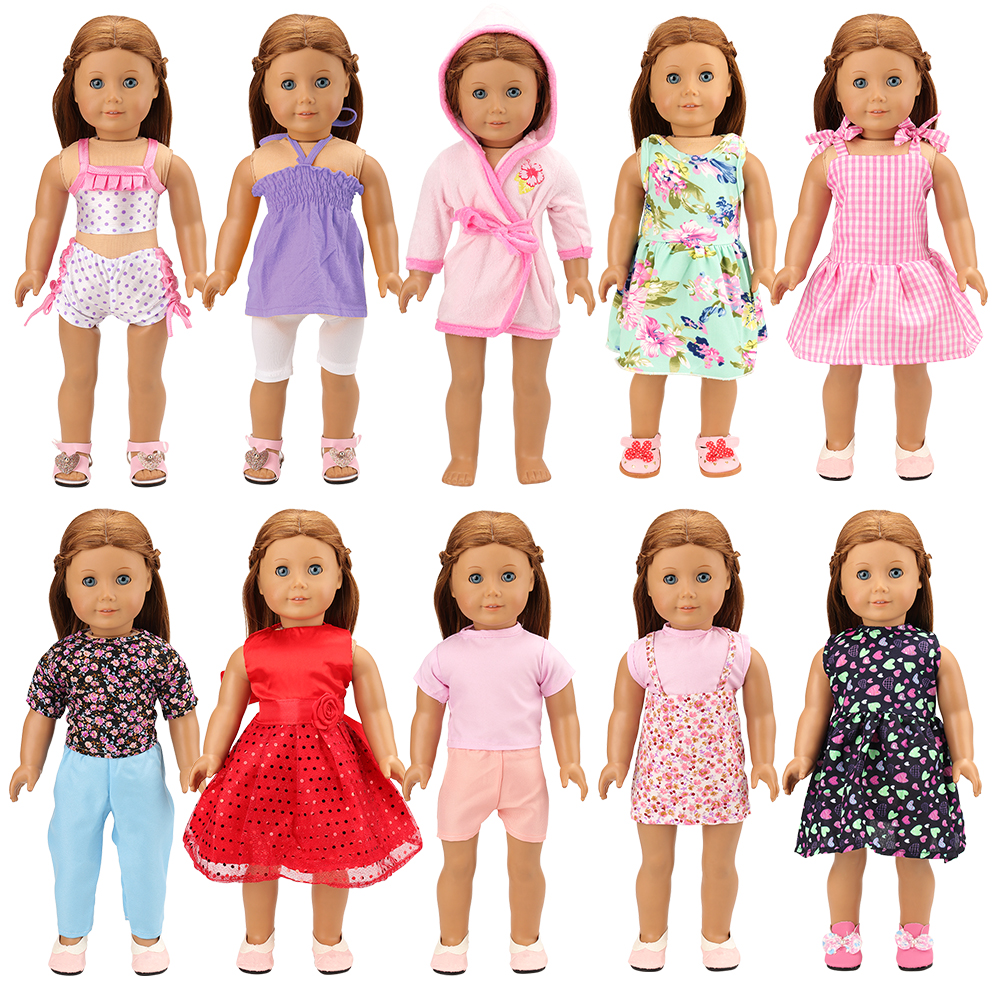 15 Items = 5 Pcs Mini Cute Outfit Dresses /& Clothes 10 Shoes For 11.5in.Doll