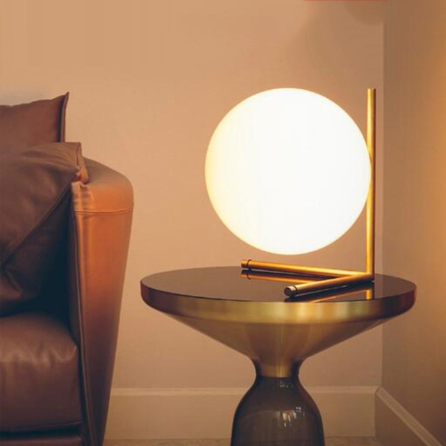 Minimalist Art Decor ball Table Lamp Geometry Abstract Design ...