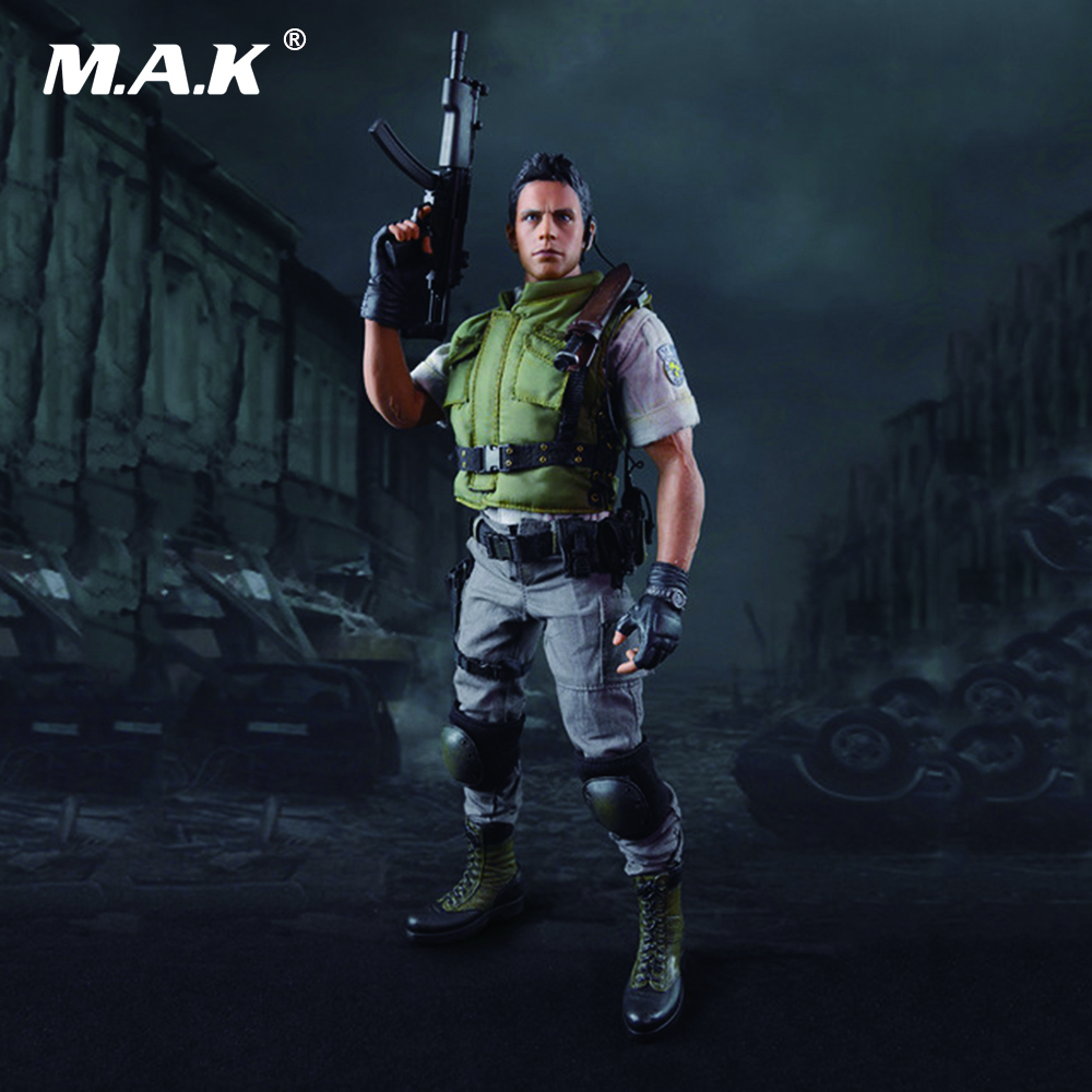 1/6 Scale Resident Evil Chris Redfield Full Set Action Figure With Box for Collections Gifts Toys 1 6 scale full set male action figure kmf037 john wick retired killer keanu reeves figure model toys for gift collections