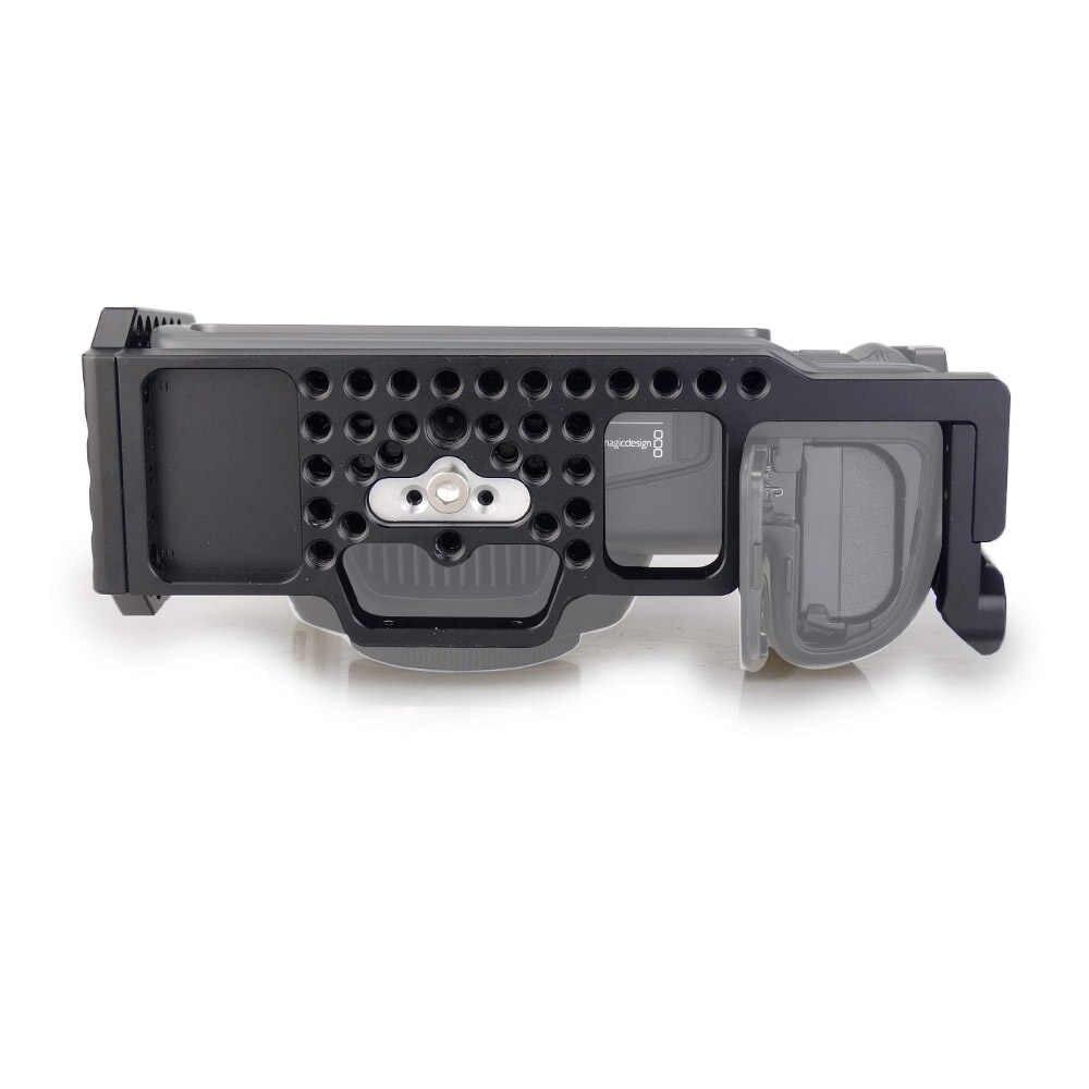 MAGICRIG BMPCC 4 K клетка с верхней резиновой ручкой для Blackmagic карманной кинокамеры BMPCC 4 K для крепления микрофона монитор светодиодный свет
