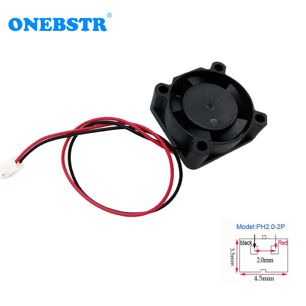 2510 Mini  Brushless Fan DC 12V Fan Chipset Heatsink 25X25X10mm With PH2.0-2Pin Cable Length 130mm Cooling Cooler Free Shipping