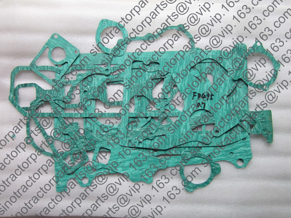 ФОТО Taishan KM554 with FD495T, the set of head gasket with engine block gakset kit