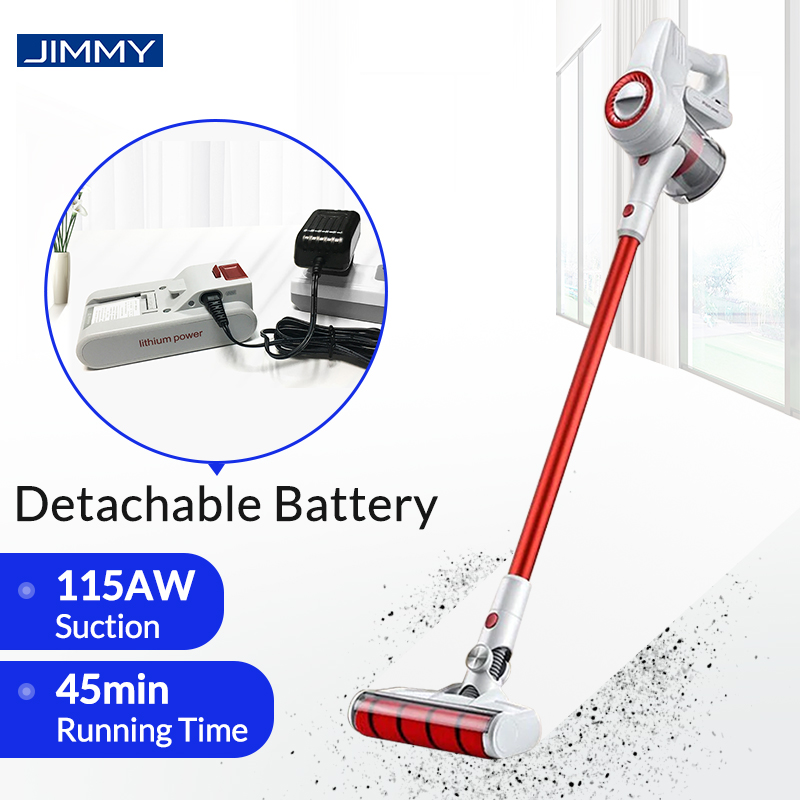 JIMMY CYCLONE-FILTER Carpet Vacuum-Cleaner Dust-Collector Cordless Sweeping-Clean JV51