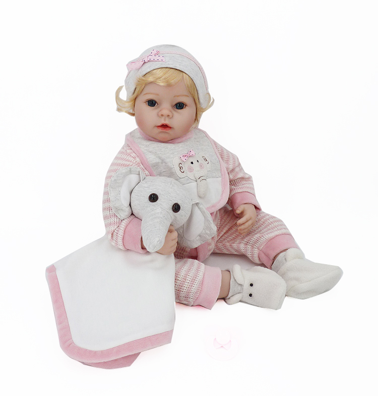 Lovely Silicone Reborn Babies Doll Toy 55cm Lovely NewBorn Girl Baby With Accessory Birthday Gift Girl Brinquedos Play House Toy
