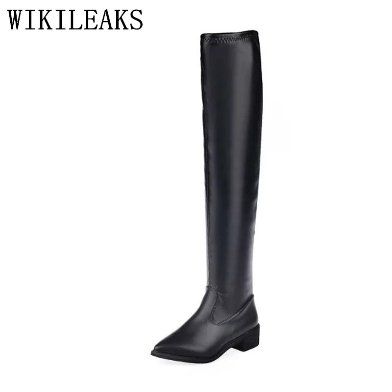 luxury brand platform thigh high boots autumn winter shoes woman leather boots designer botas mujer over the knee boots women 2018 winter thigh high boots women faux suede leather high heels over the knee botas mujer plus size shoes woman 34 43