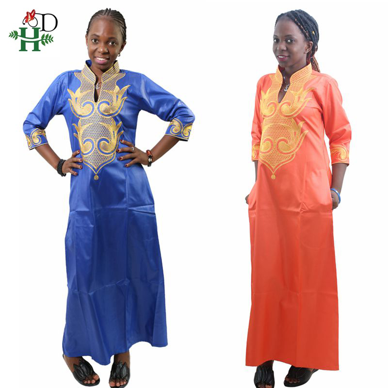 H&D 2020 New Dashiki African Cotton Dresses Top Bazin Dress For Women African Traditional Private African Custom Clothes Dashiki