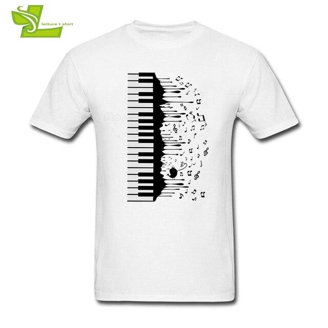 a2de3d242a67 Best Song Piano Keys T shirt Guys New Arrival Tshirts Printed Classic T- Shirts Men