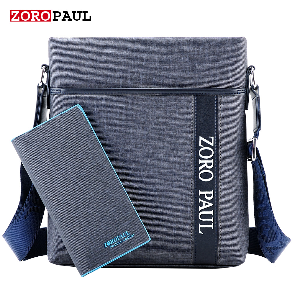 ZOROPAUL 2017 Brand Leather Men Shoulder Bag Casual Business Satchel Messenger Bag Vintage Men S Crossbody