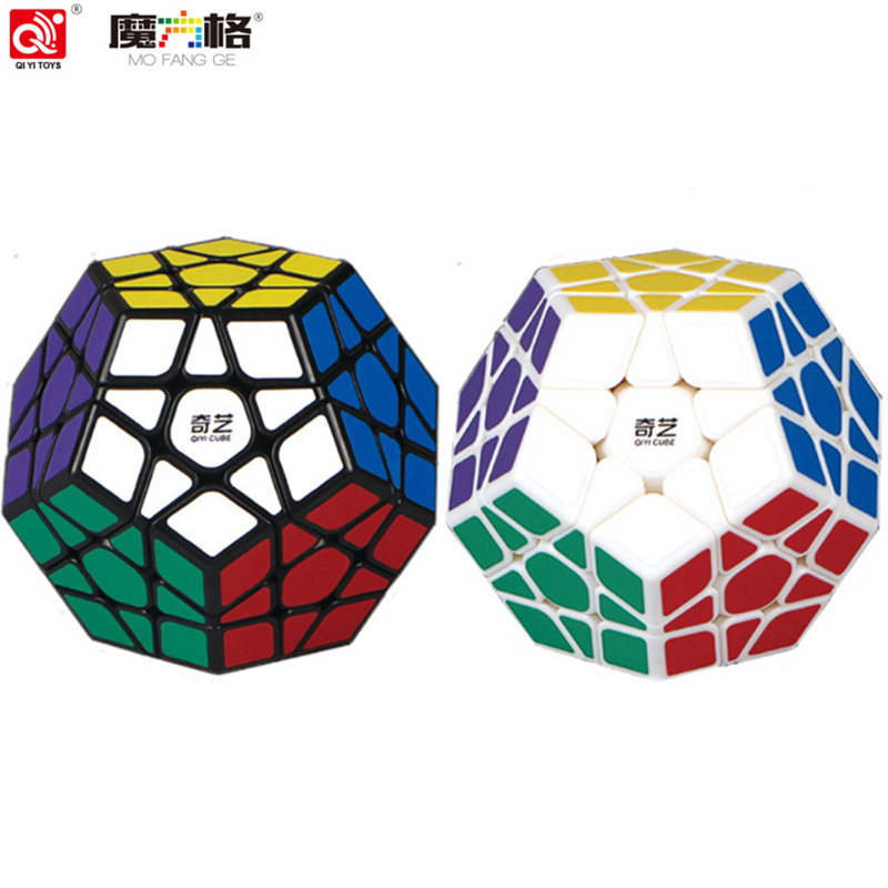 NEW QIYI megaminx magic cube stickerless speed professional 12 sides puzzle cubo magico educational toys for children megamind
