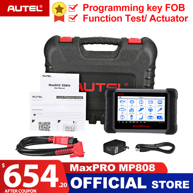 Autel MaxiPRO MP808 OBD2 เครื่องสแกนเนอร์ OBDII เครื่องอ่านรหัสเครื่องมือวินิจฉัยสแกนเครื่องมือการเข้ารหัสเป็น Autel MaxiSys MS906 DS808