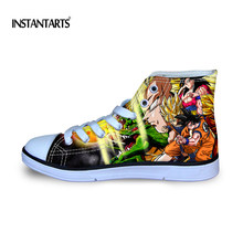 INSTANTARTS Anime Dragon Ball Z impresión niños caminando Zapatos altos  zapatos de lona superiores niños Super b996ee746ed5
