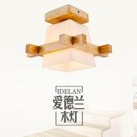 The modern Chinese style led ceiling lamp, living room, bedroom hallway, aisle lamp, corridor lamp, wooden art.