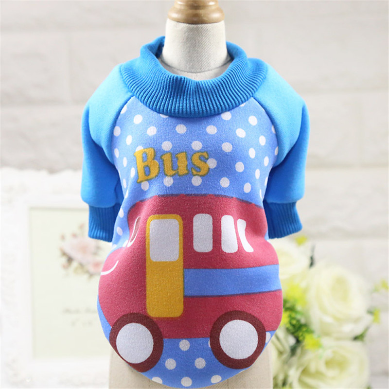 Cute Cartoon Pig Bus full range dog clothes pet clothes cat clothes Spring Winter new factory outlet Teddy Puppy Strawberry suit