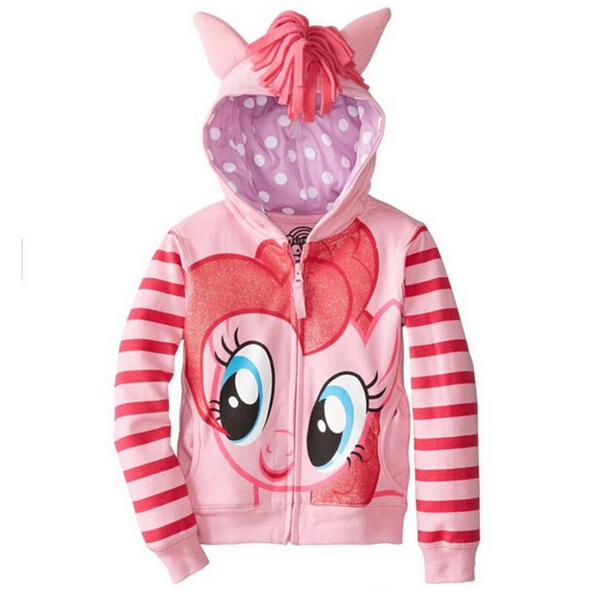 Girls Outerwear New little pony Girls Sweater Children Clothes Kids Jackets Coat Hoodies Clothing Brand Baby Girls Outwear new spring teenagers kids clothes pu leather girls jackets children outwear for baby girls boys zipper clothing coats costume