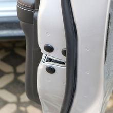 Coche Carmilla estilo cerradura de la puerta cubierta protectora de tornillo adhesivo para puerta para Skoda Octavia A2 A5 A7 Fabia rápido Superb Yeti Roomster