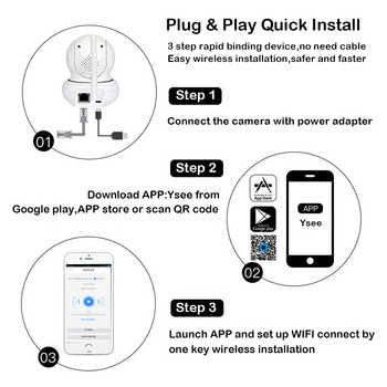 New 1080P Wifi PTZ face tracking IP Camera P2P Wireless onvif Network Security Two-way Audio Baby Monitor night vision Max 128G