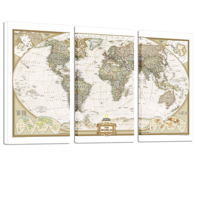 Large size world map canvas art map poster printed on canvas art large size world map canvas art map poster printed on canvas art world map decal office gumiabroncs Image collections